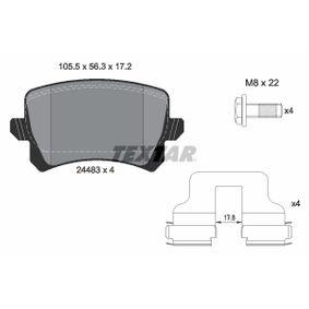 Bremsbelagsatz, Scheibenbremse Breite: 105,5mm, Höhe: 56,3mm, Dicke/Stärke: 17,2mm mit OEM-Nummer 1TD 698 451
