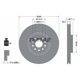 2008 Passat B6 Variant 3.6 FSI 4motion Brake Disc 92120603