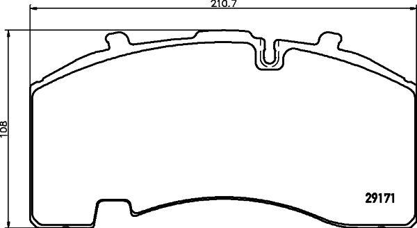 TEXTAR  2927101 Bremsbelagsatz, Scheibenbremse Breite: 210,7mm, Höhe: 108mm, Dicke/Stärke: 30mm