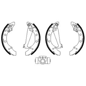 Bremsensatz, Trommelbremse mit OEM-Nummer 6Y0609526A