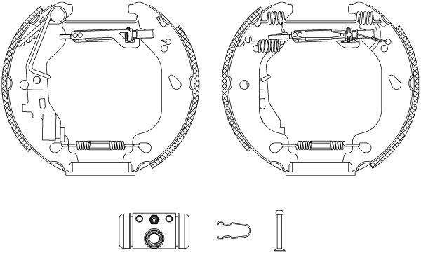TEXTAR Shoe Kit Pro 84054400 Bremsensatz, Trommelbremse