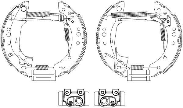 TEXTAR Shoe Kit Pro 84059800 Bremsensatz, Trommelbremse