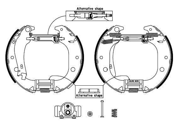 TEXTAR Shoe Kit Pro 84059900 Bremsensatz, Trommelbremse