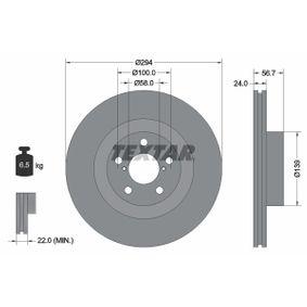 Bremsscheibe Bremsscheibendicke: 24,0mm, Ø: 294mm mit OEM-Nummer 26300 FE010