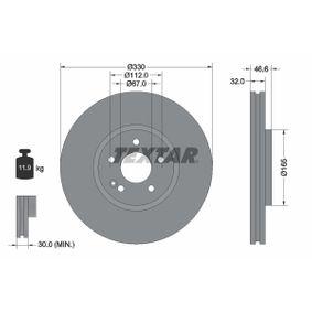 Bremsscheibe Bremsscheibendicke: 32mm, Ø: 330mm mit OEM-Nummer 210 421 2312