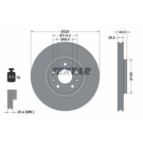 Brake Disc Brake Disc Thickness: 28mm, Ø: 320mm with OEM Number 402060003R