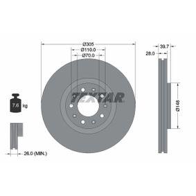 Bremsscheibe Bremsscheibendicke: 28mm, Ø: 305mm mit OEM-Nummer 51 767 381