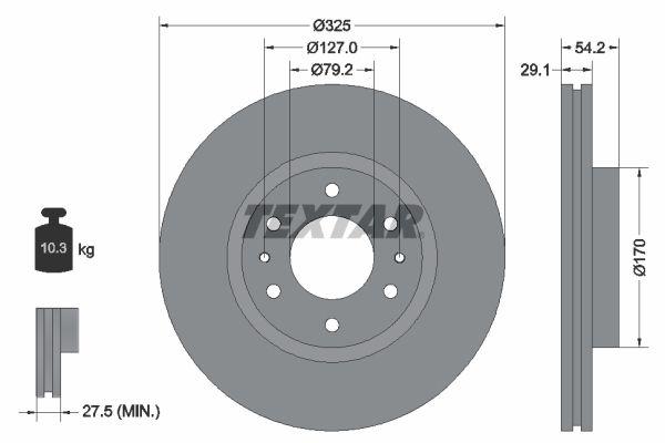 TEXTAR  92226200 Bremsscheibe Bremsscheibendicke: 29,1mm, Ø: 325mm