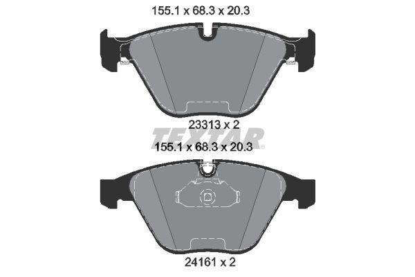 TEXTAR  2331303 Bremsbelagsatz, Scheibenbremse Breite: 155,1mm, Höhe: 68,3mm, Dicke/Stärke: 20,3mm