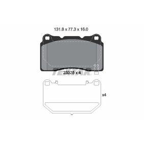 Bremsbelagsatz, Scheibenbremse Breite: 131,8mm, Höhe: 77,3mm, Dicke/Stärke: 16mm mit OEM-Nummer 58101-2MA10