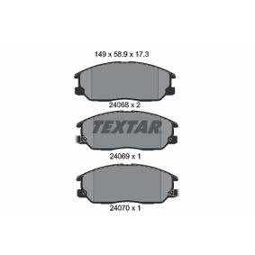 2021 KIA Sorento jc 2.5 CRDi Brake Pad Set, disc brake 2406801