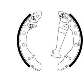 Bremsbackensatz Breite: 40mm mit OEM-Nummer 6Q0 609 526A