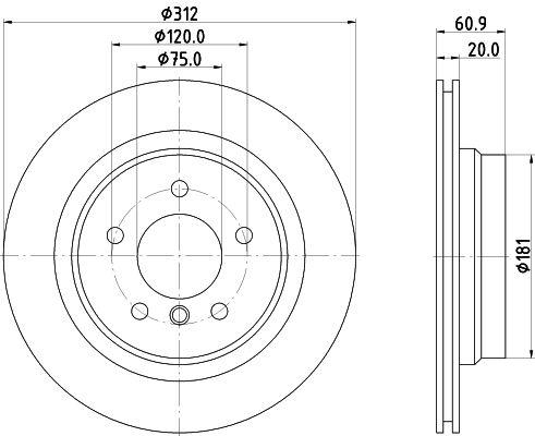 TEXTAR PRO 92098703 Bremsscheibe Bremsscheibendicke: 20mm, Ø: 312mm