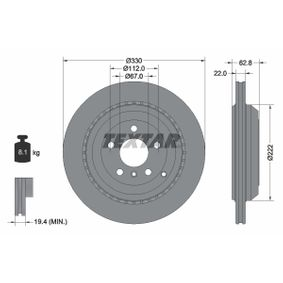 Спирачен диск 92150903 M-класа (W164) ML 320 CDI 3.0 4-matic (164.122) Г.П. 2006