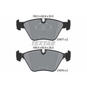 Bremsbelagsatz, Scheibenbremse Breite 1: 155,3mm, Breite 2: 156,5mm, Höhe: 63,9mm, Dicke/Stärke: 20,3mm mit OEM-Nummer 34112157588
