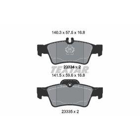 Brake Pad Set, disc brake 2333481 E-Class Saloon (W212) E 500 4.7 4-matic (212.091) MY 2011