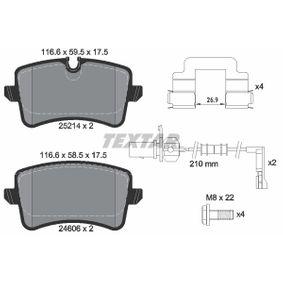 Kit de plaquettes de frein, frein à disque Largeur: 116,6mm, Hauteur 1: 59,5mm, Hauteur 2: 58,5mm, Épaisseur: 17,5mm avec OEM numéro 4G0 698 451 K