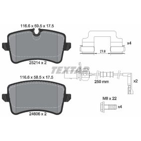 Kit de plaquettes de frein, frein à disque Largeur: 116,6mm, Hauteur 1: 59,5mm, Hauteur 2: 58,5mm, Épaisseur: 17,5mm avec OEM numéro 4H0 698 451M