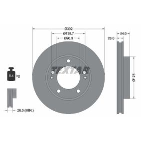 Brake Disc 92147303 SORENTO 1 (JC) 3.8 4WD MY 2009