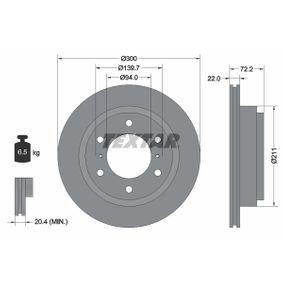 Disco de freno 92135103 PAJERO 3 (V7W, 56W) 3.8 (V67W) ac 2004