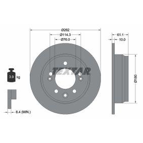 Brake Disc Brake Disc Thickness: 10mm, Ø: 262mm with OEM Number 58411-1H300