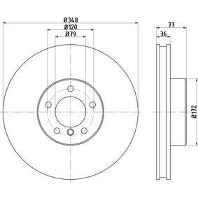 Bremsscheibe Bremsscheibendicke: 36,0mm, Ø: 348mm mit OEM-Nummer 34116779467