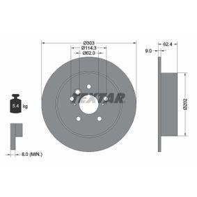 Brake Disc 92144103 RAV 4 II (CLA2_, XA2_, ZCA2_, ACA2_) 2.0 MY 2001