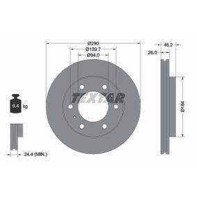 Disco de freno 92128803 PAJERO 3 (V7W, 56W) 3.8 (V67W) ac 2005
