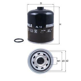 Ölfilter Innendurchmesser 2: 57,0mm, Innendurchmesser 2: 57,0mm, Höhe: 72,0mm mit OEM-Nummer 15410MJ0003