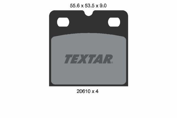 TEXTAR  2061005 Bremsbelagsatz, Scheibenfeststellbremse