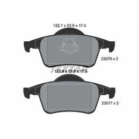 TEXTAR epad 2307681 Bremsbelagsatz, Scheibenbremse Breite 1: 122,7mm, Breite 2: 123,9mm, Höhe: 53,6mm, Dicke/Stärke: 17,5mm