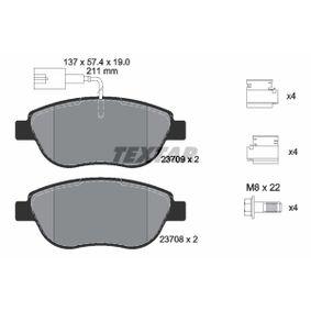Bremsbelagsatz, Scheibenbremse Breite: 137mm, Höhe: 57,4mm, Dicke/Stärke: 19mm mit OEM-Nummer 77366528
