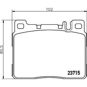 TEXTAR  2371501 Bremsbelagsatz, Scheibenbremse Breite: 102mm, Höhe: 80,5mm, Dicke/Stärke: 18,6mm