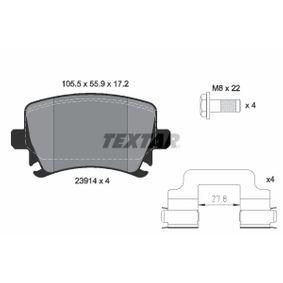 Bremsbelagsatz, Scheibenbremse Breite: 105,5mm, Höhe: 55,9mm, Dicke/Stärke: 17,2mm mit OEM-Nummer JZW698451M