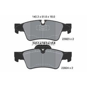 Комплект спирачно феродо, дискови спирачки 2392381 M-класа (W164) ML 320 CDI 3.0 4-matic (164.122) Г.П. 2008