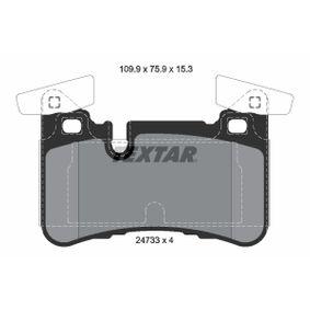 Brake Pad Set, disc brake 2473301 E-Class Saloon (W212) E 63 AMG 5.5 4-matic (212.076) MY 2016