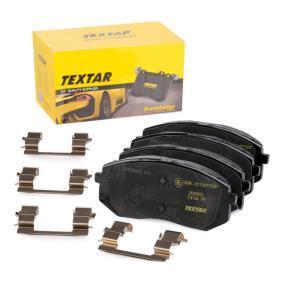 TEXTAR  2520501 Bremsbelagsatz, Scheibenbremse Breite: 137,9mm, Höhe: 60,9mm, Dicke/Stärke: 17,5mm