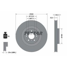 Спирачен диск дебелина на спирачния диск: 32,0мм, Ø: 350мм с ОЕМ-номер A1644210512