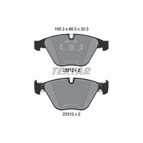 TEXTAR  2331282 Bremsbelagsatz, Scheibenbremse Breite 1: 155,1mm, Höhe 1: 68,3mm, Dicke/Stärke: 20,3mm