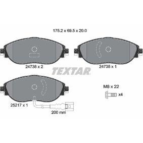 Brake Pad Set, disc brake Article № 2473801 £ 140,00