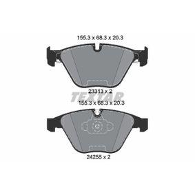 Bremsbelagsatz, Scheibenbremse Breite: 155,3mm, Höhe 2: 68,3mm, Dicke/Stärke: 20,3mm mit OEM-Nummer 34 11 2 288 858