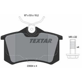 Bremsbelagsatz, Scheibenbremse Breite: 87mm, Höhe: 53mm, Dicke/Stärke: 15,2mm mit OEM-Nummer 191615415A
