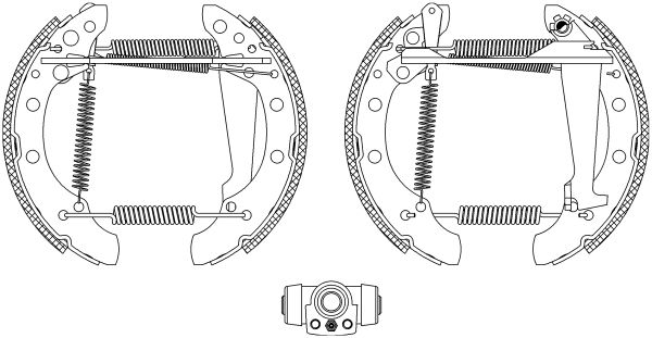 TEXTAR Shoe Kit Pro 84018302 Bremsensatz, Trommelbremse