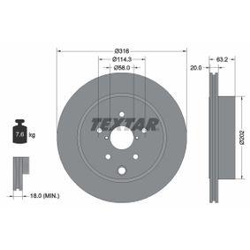 TEXTAR PRO 92243703 Bremsscheibe Bremsscheibendicke: 20,0mm, Ø: 316mm