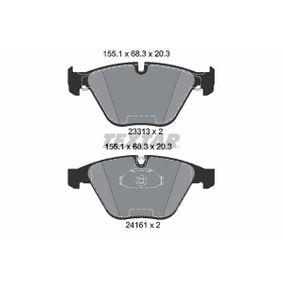 TEXTAR  2331382 Bremsbelagsatz, Scheibenbremse Breite: 155,1mm, Höhe: 68,3mm, Dicke/Stärke: 20,3mm