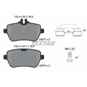Bremsbelagsatz, Scheibenbremse Breite: 116,4mm, Höhe 1: 65mm, Höhe 2: 54,7mm, Dicke/Stärke: 18,8mm mit OEM-Nummer 0084203420
