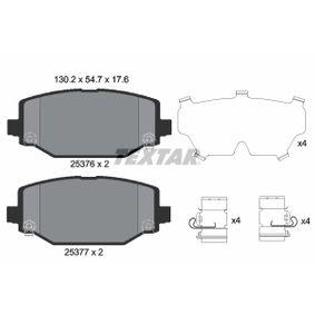 TEXTAR  2537601 Bremsbelagsatz, Scheibenbremse Breite: 130,2mm, Höhe: 54,7mm, Dicke/Stärke: 17,6mm