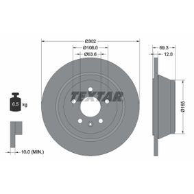 Bremsscheibe Bremsscheibendicke: 12mm, Ø: 302mm mit OEM-Nummer 3076905-8