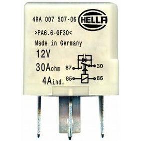HELLA Relais, Arbeitsstrom 4RA 007 507-061 für AUDI A4 (8E2, B6) 1.9 TDI ab Baujahr 11.2000, 130 PS