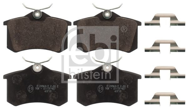 FEBI BILSTEIN  116216 Bremsbelagsatz, Scheibenbremse Breite: 52,9mm, Dicke/Stärke 1: 17mm